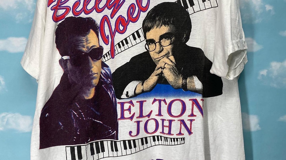 Elton John Billy Joel Pianoman Tour Tee