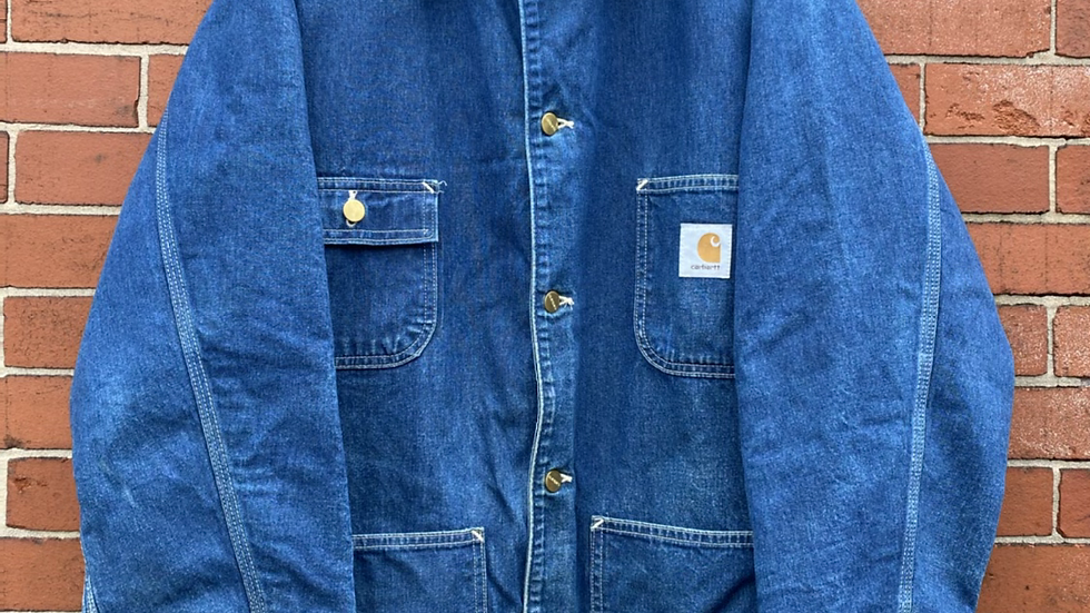 90's Denim Blanket Lined Carhartt Chore Coat