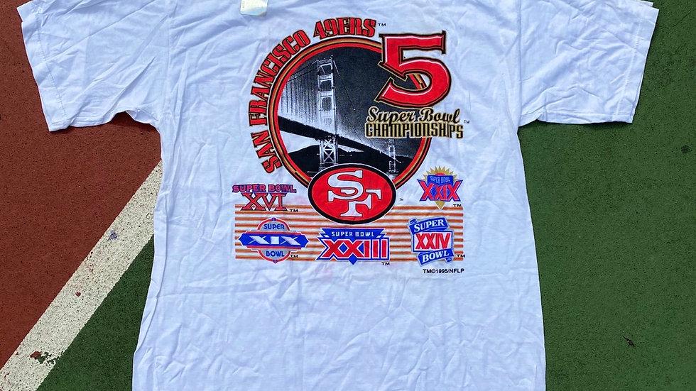 5 Time SB Champs 49ers Tee