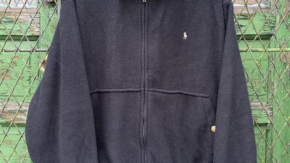 90's Black Polo Fleece