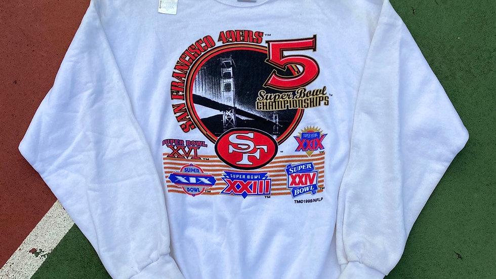 1995 49ers Super Bowl Crewneck