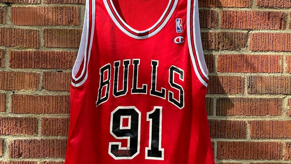 Dennis Rodman Red Champion Jersey Size 44