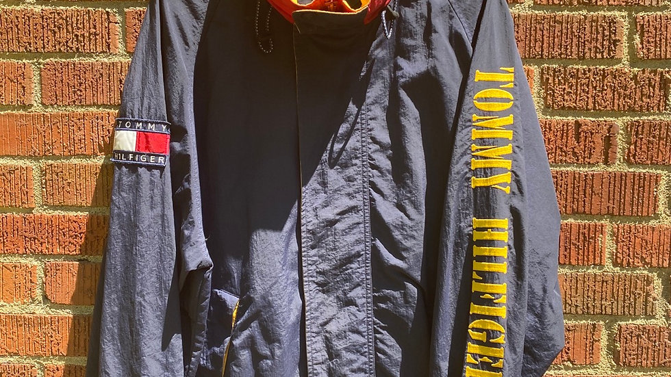 Gold Tommy Spell Out Windbreaker