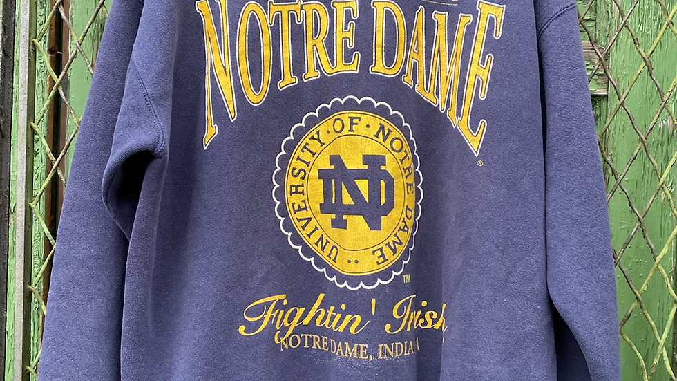 90's Notre Dame Spell Out Crewneck