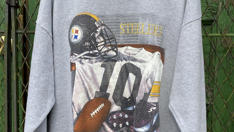 90's Steelers Embroidered Crewneck