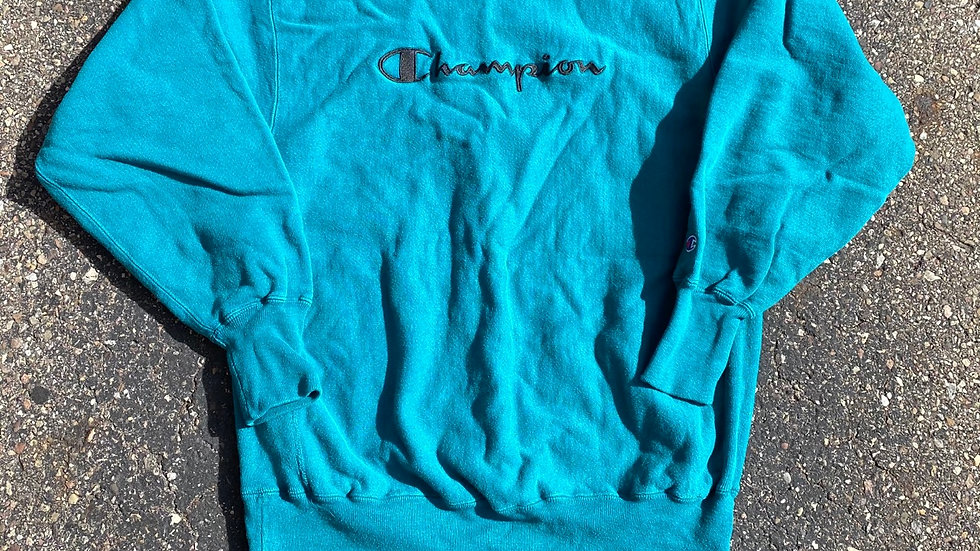 Teal 90's Champion Reverse Weave