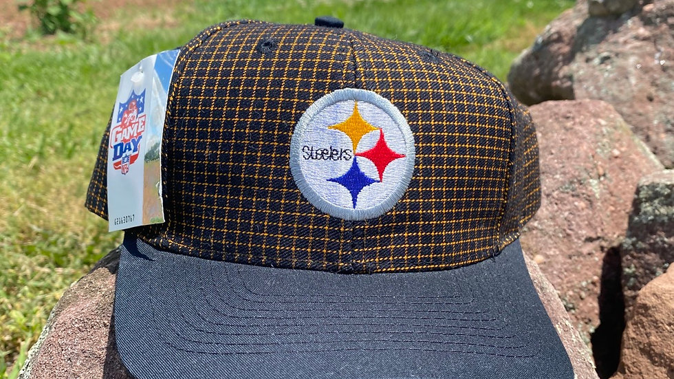 90's Steelers Grid Snapback #1