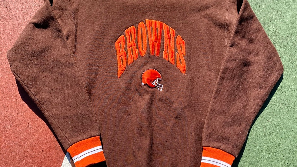 90's Browns Spell Out Crewneck