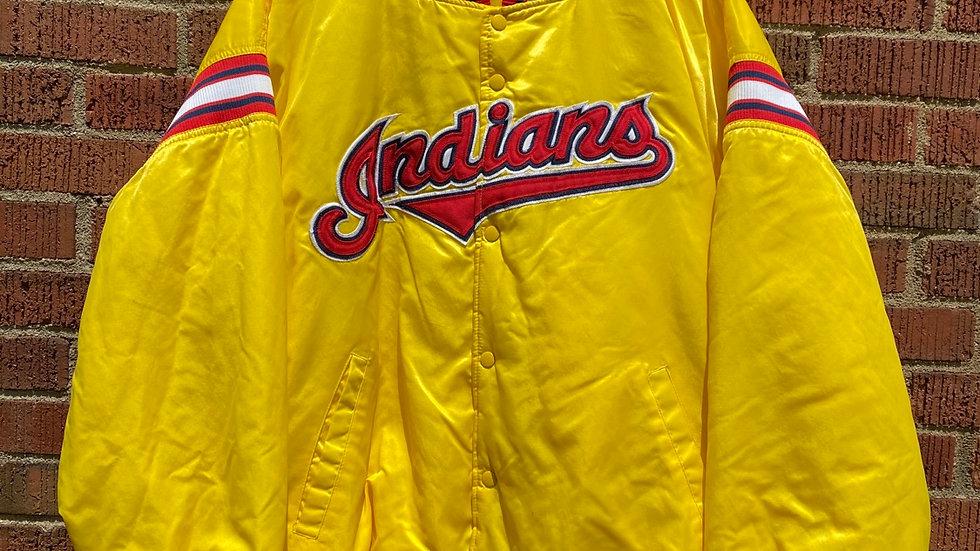 Cleveland Indians Yellow Starter Jacket
