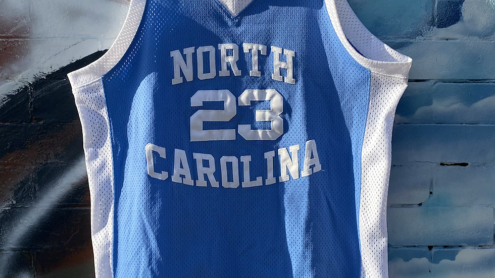 MJ Nike UNC Authentic Jersey
