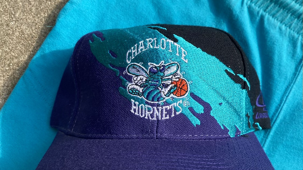 Charlotte Hornets Splash Logo Athletic Hat