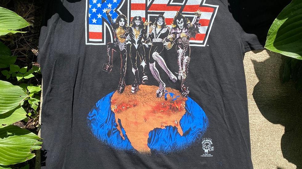 1996 Kiss Destroys The Civic Arena Tee With Ticket Stub