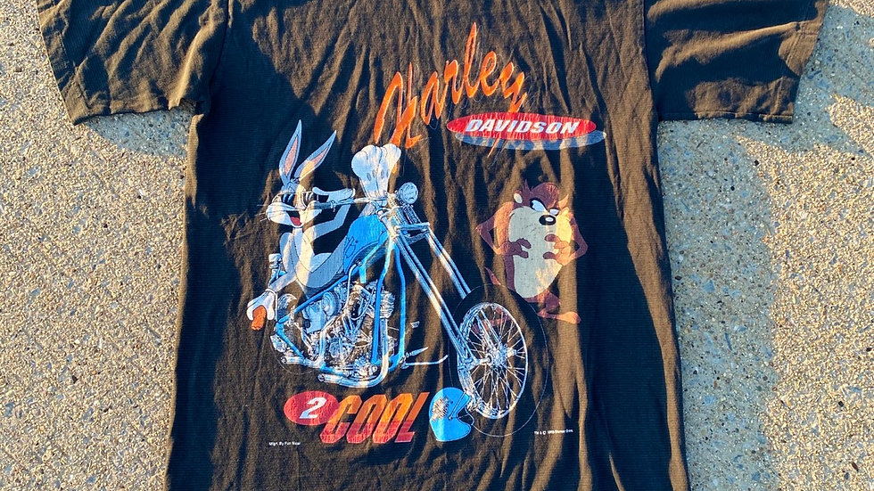 1993 Looney Tunes Harley Davidson Tee