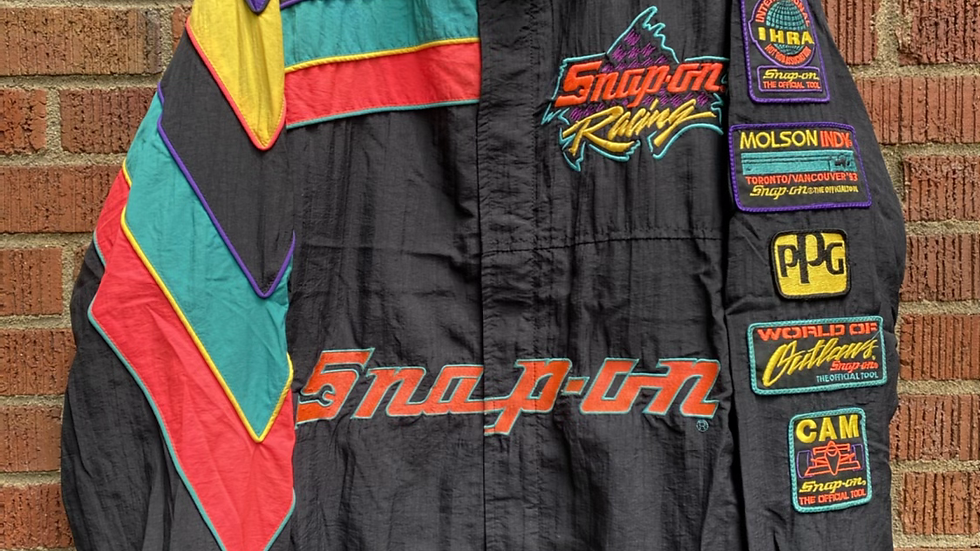 90's Snap On Racing Windbreaker