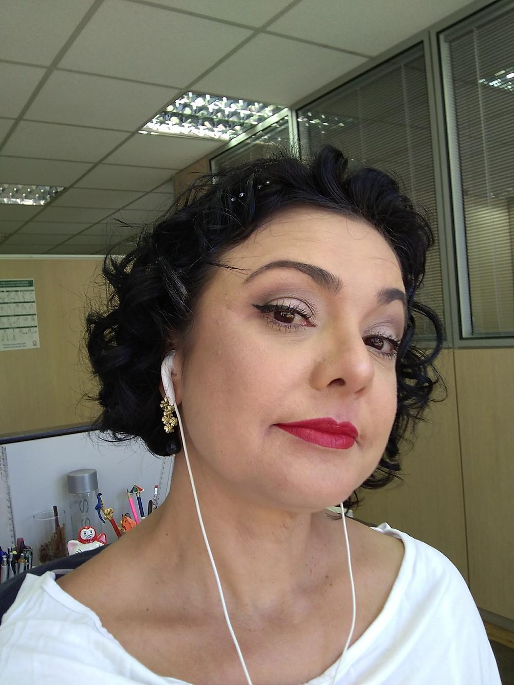 Maquiagem feita no trabalho