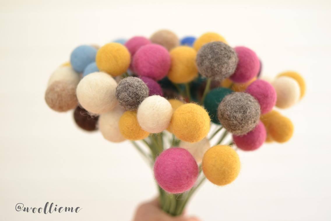 Woollie Me Felt Flowers