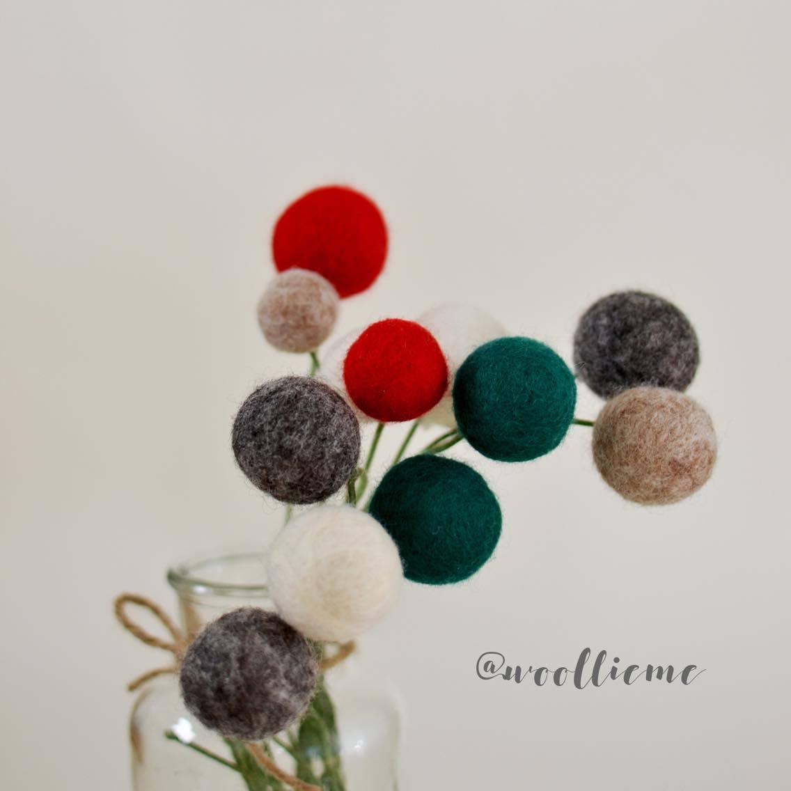 Woollie Me Christmas Felt Flowers
