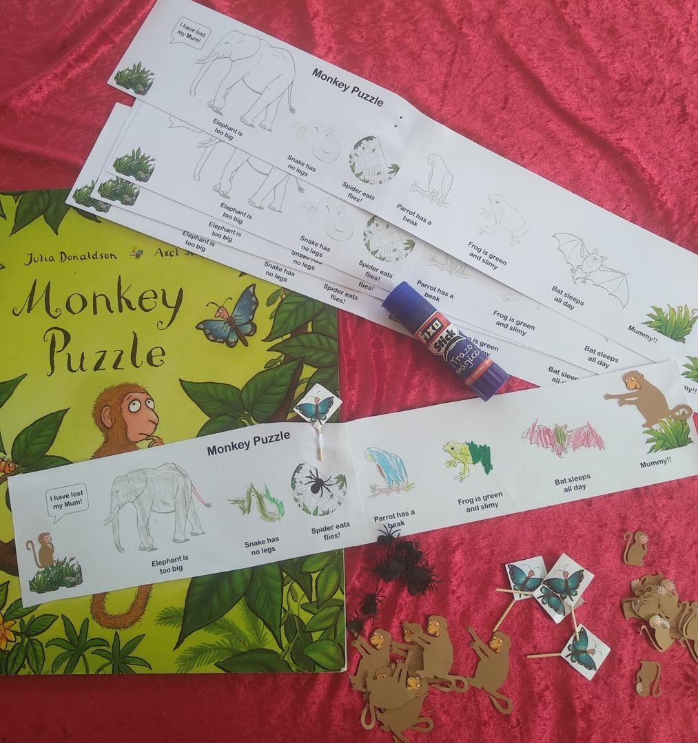 Monkey Puzzle craft