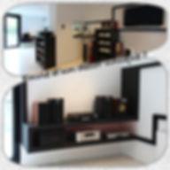 decor salon noir audio video sur mesure.