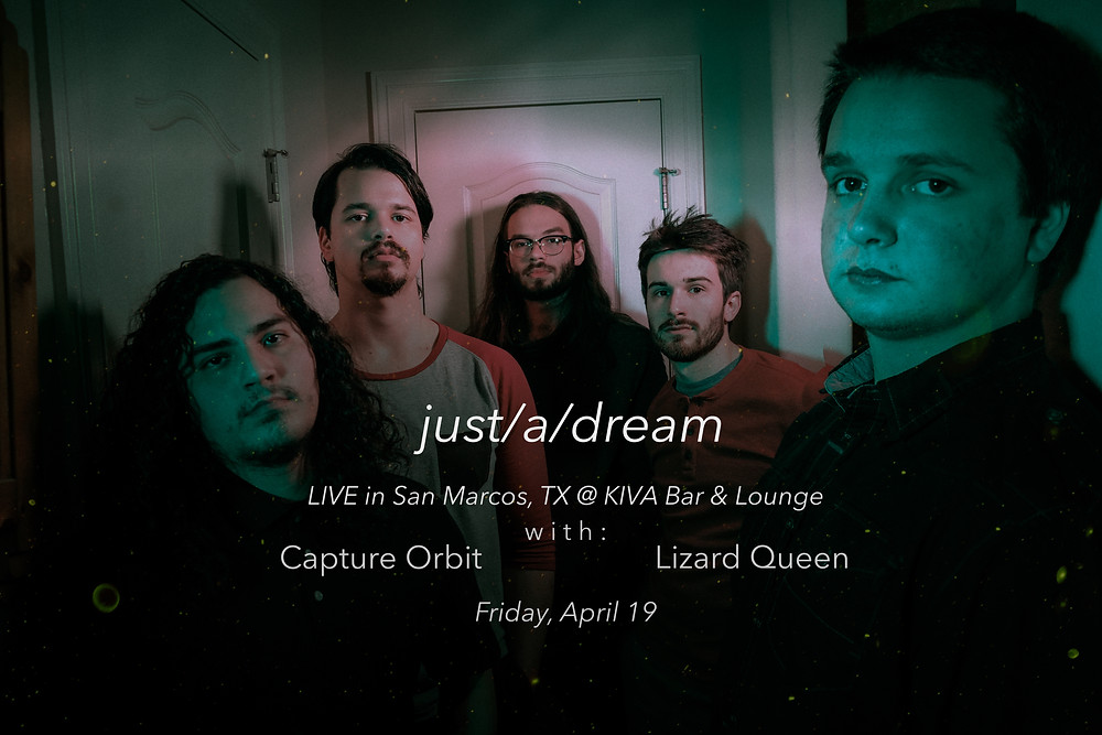 The boys will be hitting the stage at KIVA Lounge & Bar on April 19th with the family in Capture Orbit and Lizard Queen + more!