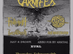 NEXT SHOW with CARNIFEX!! Feb 9/Paper Tiger