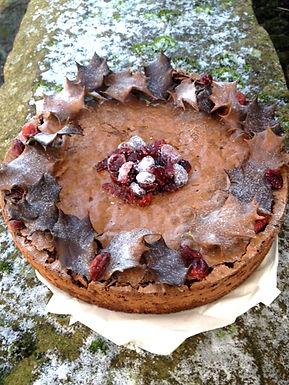 Christmas Chocolate Brownie Cake