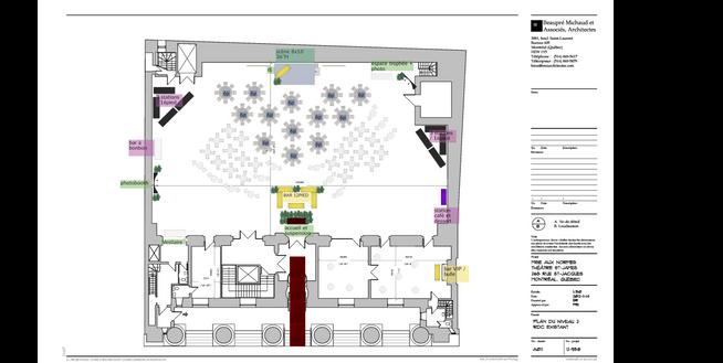 Plan de salle- Théâtre St-James