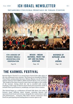 _ICH ISRAEL Newsletter  2020 N 1 Engl.pn