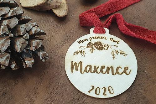 """Boule  personnalisée """"Mon premier Noël"""""""