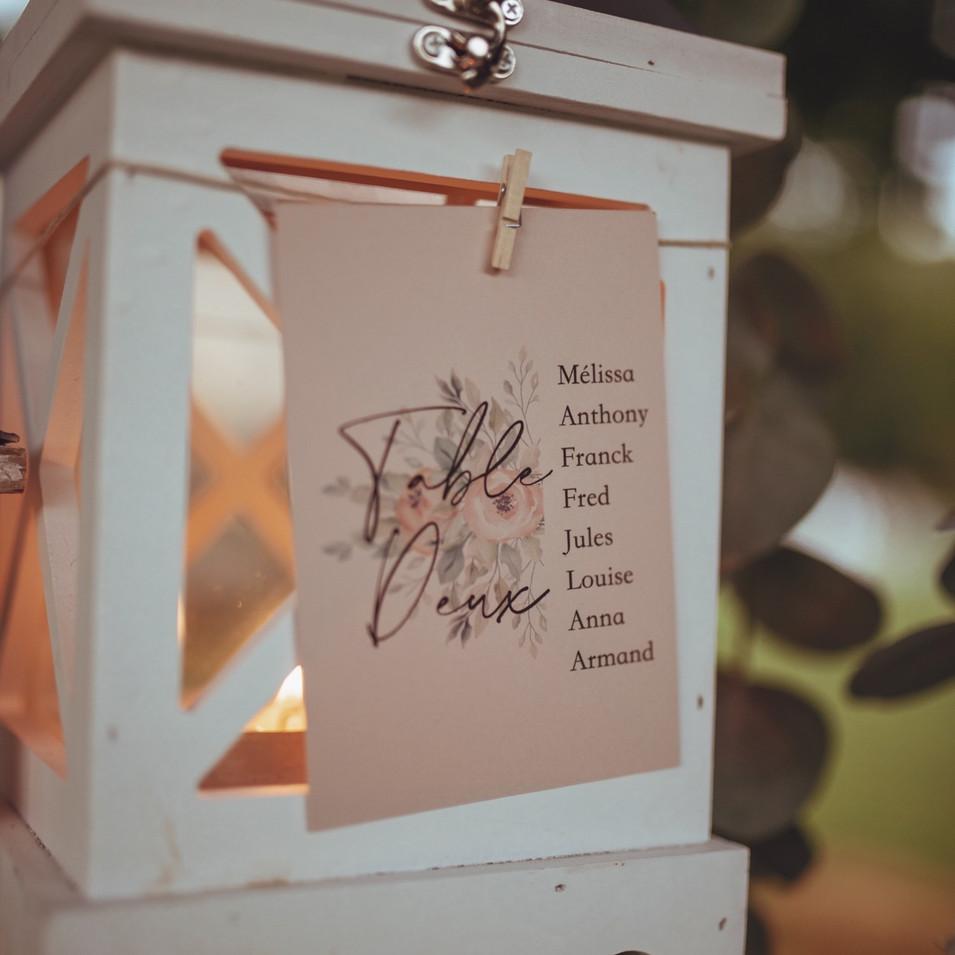 Plan de tables mariage rose poudré et rosé