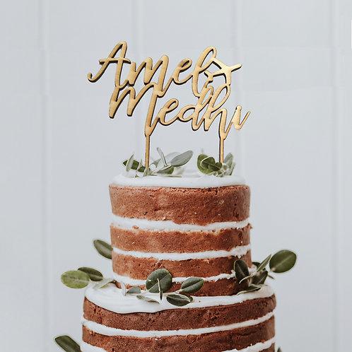 Cake Topper en bois