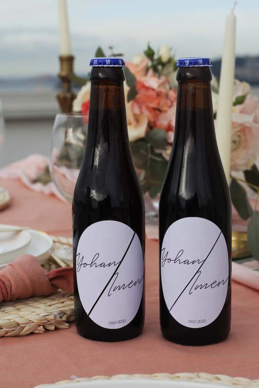 Etiquettes personnalisée pour bouteilles