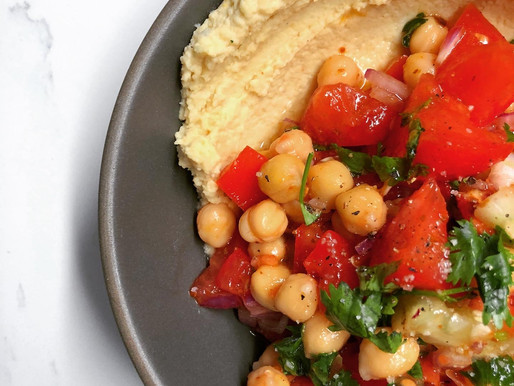 Heirloom Hummus & Early Girl Salad