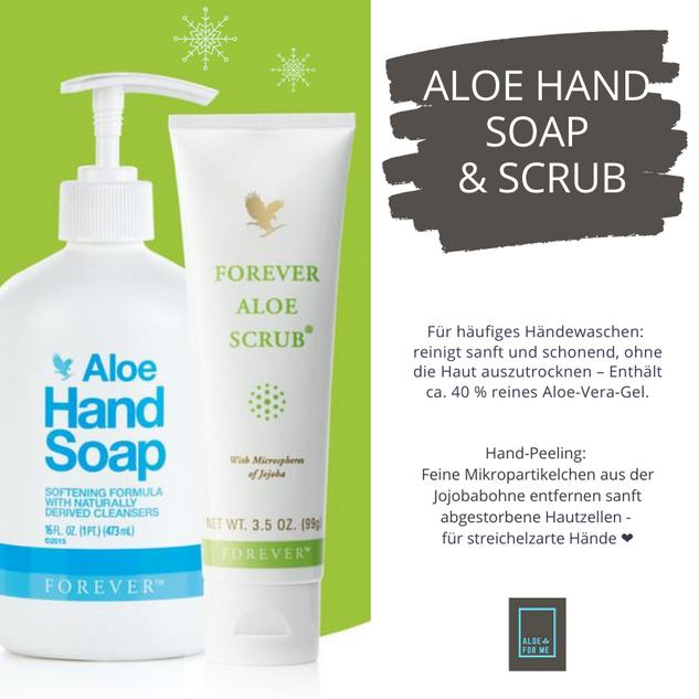 Aloe Hand Soap & Scrub für gepflegte Hände