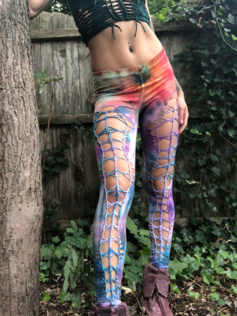 Tie Dye Braided Leggings