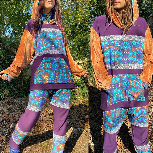 Cosmic Peacock Bamboo Fleece Hoodie