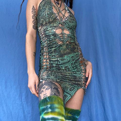 Green Goddess Pixie Dress