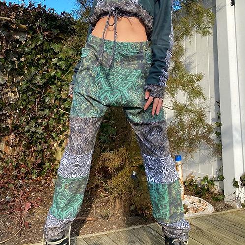 Green Goddess Patchwork Joggers