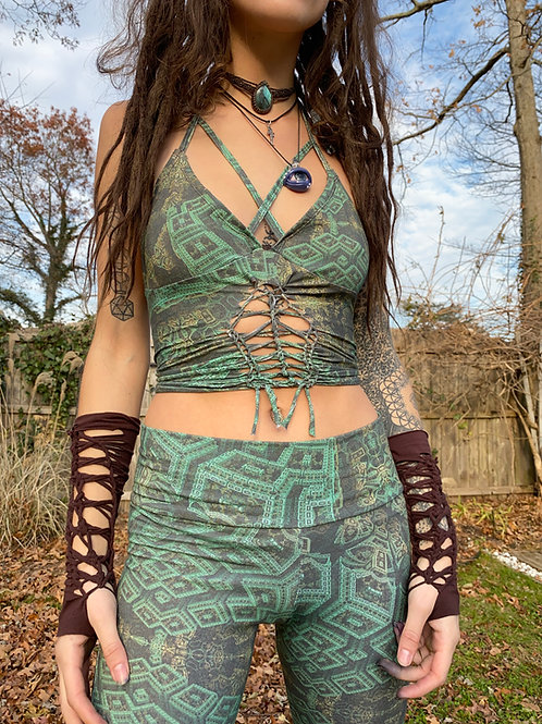 Green Goddess Strappy Tank