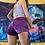 Thumbnail: Purp Paisley Velvet Cinch Shorts