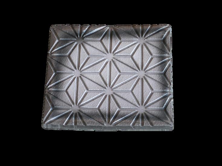 瓦コースター/正方形・麻の葉