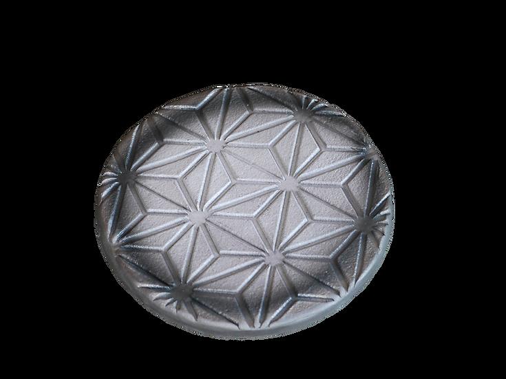 瓦コースター/円形・麻の葉