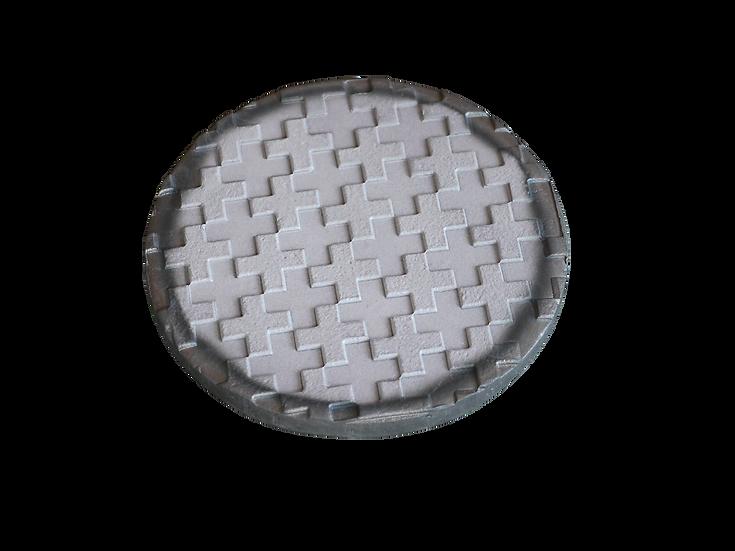 瓦コースター/円形・モザイク