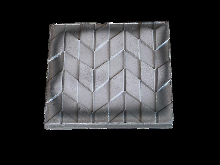 瓦コースター/正方形・矢絣