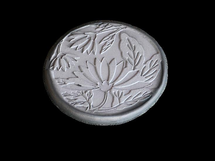 瓦コースター/円形・菊