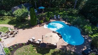 Aerial backyard pool