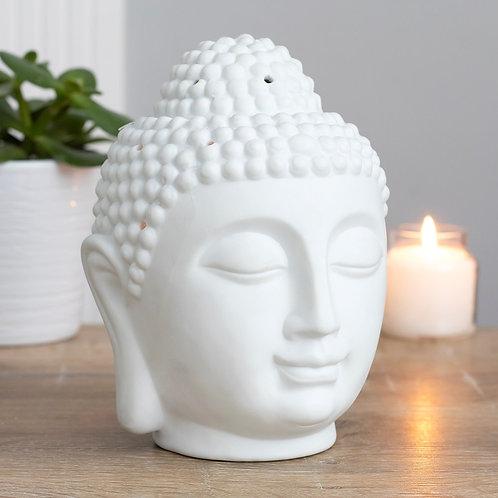 Large White Buddha Burner