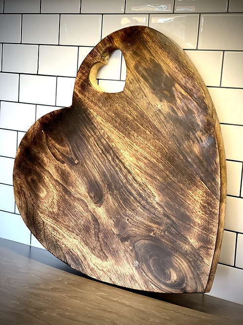 Natural Wood Heart Chopping Board