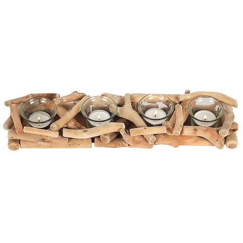 4 Driftwood Candle Holder