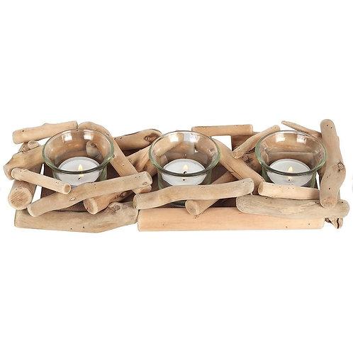 3 Driftwood Candle holder